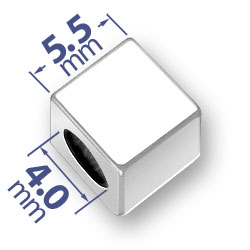 55mm Blank Alphabet Bead Image