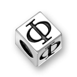 55mm Greek Phi Alphabet Bead Image