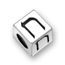 55mm Hebrew Chet Alphabet Bead Image