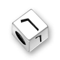 55mm Hebrew Vuv Alphabet Bead Image