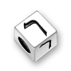 55mm Hebrew Resh Alphabet Bead Image