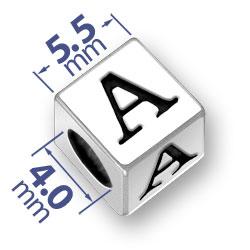 55mm Alphabet Letter A Bead Image
