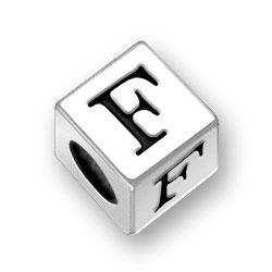 55mm Alphabet Letter F Bead Image