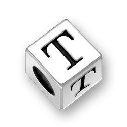 55mm Alphabet Letter T Bead Image