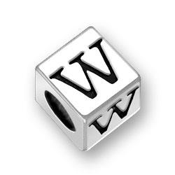55mm Alphabet Letter W Bead Image