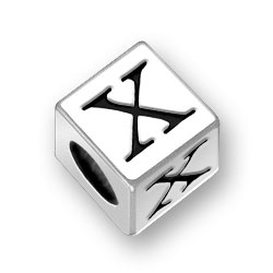 55mm Alphabet Letter X Bead Image