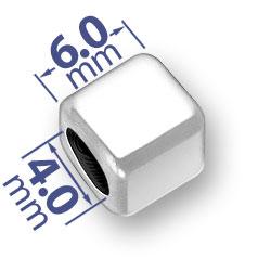 6mm Rounded Blank Alphabet Bead Image