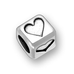 6mm Rounded Heart Bead Image