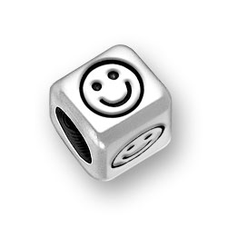 6mm Rounded Smiley Bead Image