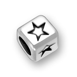6mm Rounded Star Bead Image