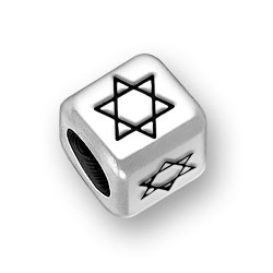 6mm Rounded Star Of David Bead Image