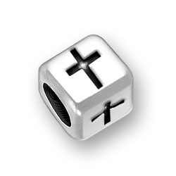 6mm Rounded Cross Bead Image