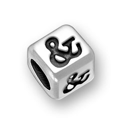6mm Rounded Ampersand Sign Bead Image
