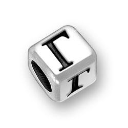 6mm Rounded Greek Gamma Alphabet Bead Image