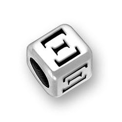 6mm Rounded Greek Xi Alphabet Bead Image