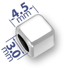 45mm Rounded Blank Alphabet Bead Image