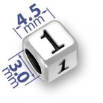 45mm Rounded 1 One Number Bead Image