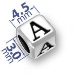 45mm Rounded Alphabet Letter A Bead Image