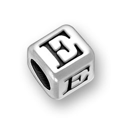45mm Rounded Alphabet Letter E Bead Image