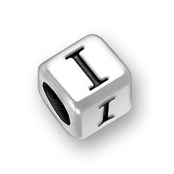 45mm Rounded Alphabet Letter I Bead Image