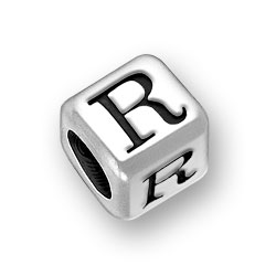 45mm Rounded Alphabet Letter R Bead Image