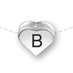 Letter B Heart Alphabet Bead Image
