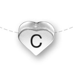 Letter C Heart Alphabet Bead Image