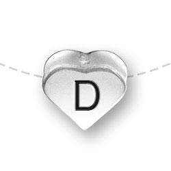 Letter D Heart Alphabet Bead Image