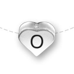 Letter O Heart Alphabet Bead Image