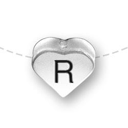 Letter R Heart Alphabet Bead Image