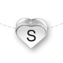 Letter S Heart Alphabet Bead Image