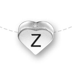 Letter Z Heart Alphabet Bead Image