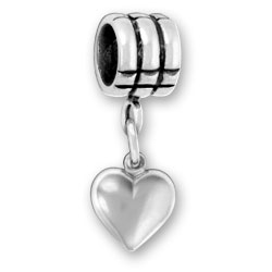Luv Link Bead With Puffed Heart Image