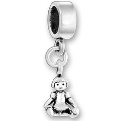 Luv Link Bead With Baby Doll Image