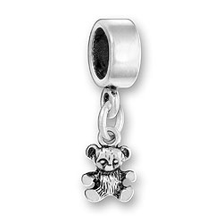 Luv Link Bead With Teddy Bear Image