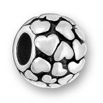 Luv Link Round Bead With Hearts Image