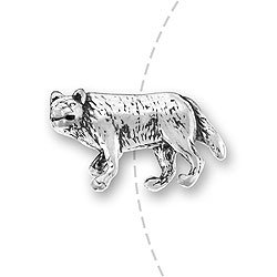 Gray Wolf Bead Image
