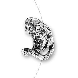Golden Lion Tamarin Monkey Bead Image