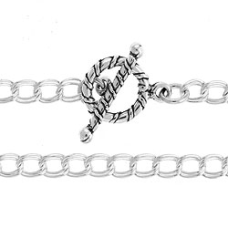 42mm Parallel Double Curb Chain With Toggle And Bar 7 12 Image
