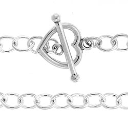 54mm Cable Chain With Heart Toggle And Bar 7 Image