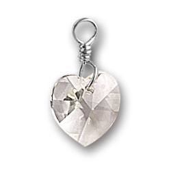 Swarovski Crystal Heart Charm Image