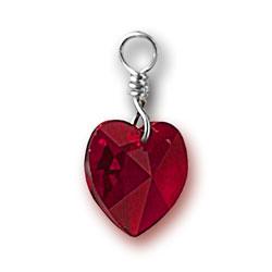 Siam Swarovski Crystal Heart Charm Image