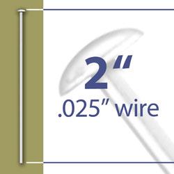 2 Head Pin 025 Wire Image