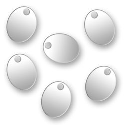 Blank Silver Oval Tags 6mm X 76mm Image