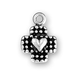 Heart On Dotted Cross Image