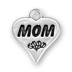 Mom On Heart Charm Image