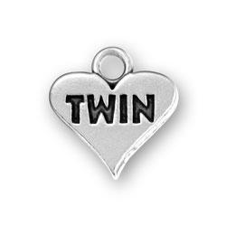Twin Heart Charm Image