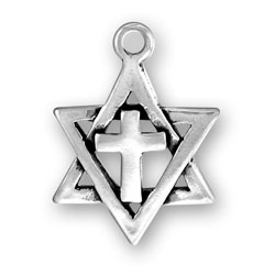 Star Of David With Cross Image