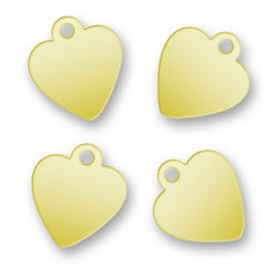 Blank Gold Plated Heart Tags 92mm X 105mm Image