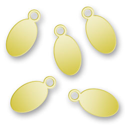 Blank Gold Plated Oval Tags 55mm X 11mm Image